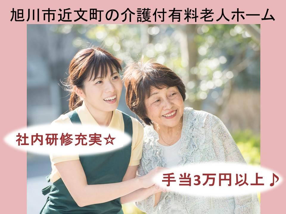 【旭川市近文町/介護付有料老人ホーム】✿幅広い年齢層が活躍✿マイカー通勤可✿未経験者歓迎 イメージ